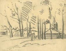 Originalzeichnungen (1900-1949) mit Landschafts-Motiv und Kohle-Technik