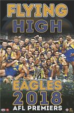 AFL Premiers 2018 West Coast Eagles Flying High POSTER 61x91cm NEW footy champs