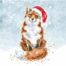 Wrendale Designs Christmas Card Box Set of 8 Cards  Fox