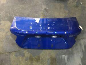 2015 Subaru BRZ Toyota 86 FRS Rear Deck Lid Trunk Blue *damaged* OEM 3871