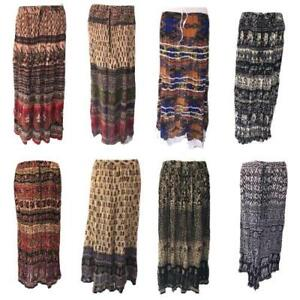 Gypsy Skirt Long Skirt Indian Party Maxi Boho Hippy Cotton Festival 8 10 12