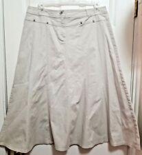 Cato Women's Full Skirt Size 14 Khaki Beige Ankle Length