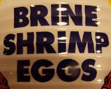 Baby Brine Shrimp Eggs Artemia Cysts 1 oz 90% Hatch Rate  live Coral Fish