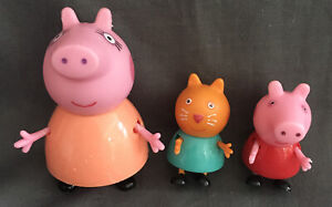 3 X Peppa Pig Toy Figures