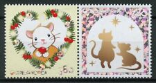 South Korea Year of Rat Stamps 2019 MNH Chinese Lunar New Year 2v Set