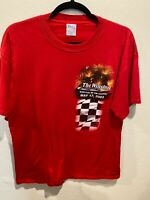 VTG NASCAR The Winston 2003 Survival of the Fittest Racing Tee T Shirt Red XXL