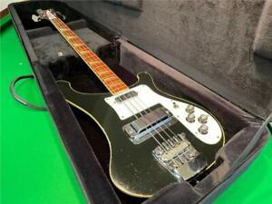 Rickenbacker 1974 4001 Bass Guitar Jetglo Black, All Original Plus Case
