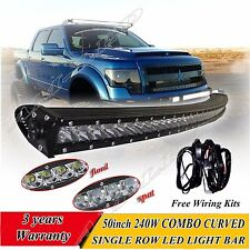 50 inch single row CREE LED light bar offroad For Ford 4WD boat UTE driving ATV