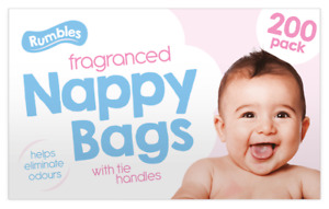 200 Disposable Nappy Fragranced Bags Hygienic Sacks Diaper Tissue Bags