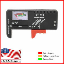 Universal Battery Tester Checker AA/AAA/C/D/9V/1.5V Button Cell Analyzer US NEW
