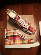 Christian Louboutin Rantus Orlato Flat Carreaux/Calf Plaid Size 43 Men's NIB