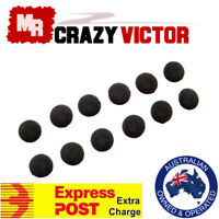 Soft 6 Pairs 16mm Replacement Ear Pad Bud Foam Earbud Cover For Earphones Black