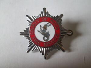 County of Avon fire brigade cap badge. Fire brigade badge. Fire service.