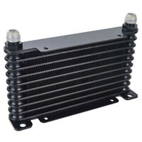 AN10 32mm Oil Cooler 10 Row Racing Coated Mount Engine Transmission Universal