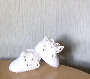 HANDMADE CROCHET BABY SHOES WOOL BOOTIES