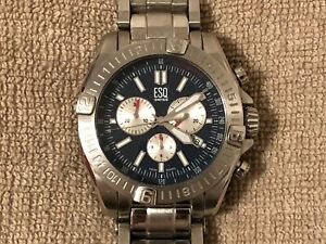 Men's ESQ Swiss by Movado Chronograph Watch- Stainless Steel / ES 12-1-14-5509