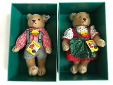Marshall Fields Christmas STEIFF HANS HELGA Bears 1985 NEW Limited Edition
