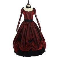 Ladies' Vintage Victorian Bowknot Dress Gothic Ball Gown Elegant Prom Full Dress