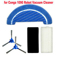 For Conga 1090 Robot Vacuum Cleaner Replacement Side Brush Filters Mop Cloth Set