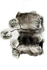 UNIQUE CHIC WINTER THEME FASHIONISTA GREY FUR LEG/ARM WARMERS WITH BALL (MS4)