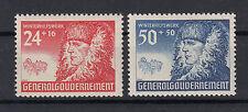 Generalgouvernement  Briefmarken 1940 Winterhilfe Mi.Nr.60+62 ** postfrisch
