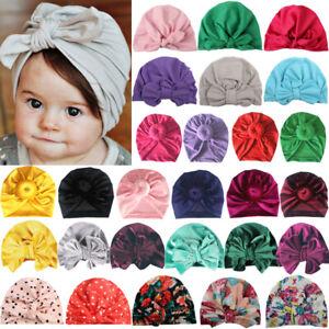 Baby Toddler Kids Girls Bunny Rabbit Bow Knot Headband Turban Hair Band Headwrap