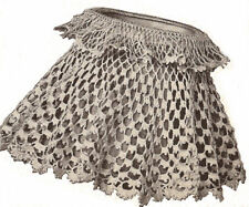 Vintage Crochet PATTERN Lampshade Shade Cover Any Size