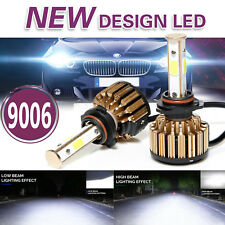 4-sided 9006 HB4 1020W 153000LM COB LED Headlight Kit Light Bulbs 6000K vs HID