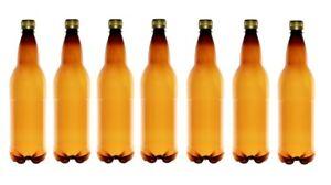 24X 1L PET Beer Cider Bottles with Screw Caps Home Brew