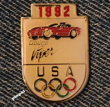 1992 Dodge Viper Lapel Pin~USA Olympic Team~Albertville~Barcelona~Cars~Auto