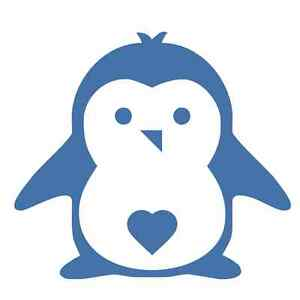 Cute Little Penguin #2 - 1031 - Sticker / Decal / Stencil - Made to Order
