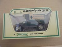 MATCHBOX MODELS OF YESTERYEAR - Y-12 1912 FORD MODEL T - HARRODS