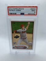2012 Topps Update PATRICK CORBIN Rookie Card RC #US16 Washington Nationals PSA 9