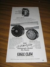 1971 Print Ad Eagle Claw AD McGill Autograph Model Fly Fishing Reels Denver,CO