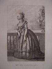 Gravure de Madame de LAMBALLE Née à Turin