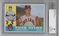 1960 Topps vintage baseball card #36 Russ Nixon, Cleveland Indians BVG 7 NM
