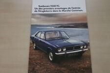 182275) Sunbeam 1250 TC - Frankreich - Prospekt 1972