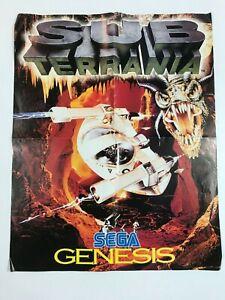 Vintage Sub Terrania Poster , Sega Genesis