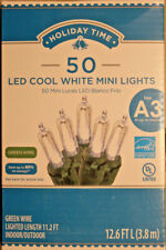 50 Count  Cool White  LED Mini Christmas / Wedding  Lights on Green Wire