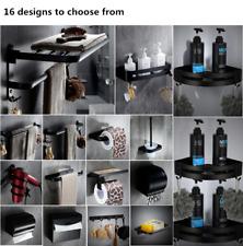 Wall Mount Space aluminum black Bathroom Accessories Toilet Holder Soap Dish