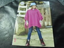 King Cole Double Knit Girls' Ponchos Pattern 4928 2 - 11 Years
