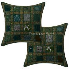 Indian Throw Cushion Cover Handmade Designer Pillow Case Cover Throw Cushions