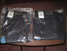 LOT OF 2 NEW DICKIES JEANS -- DARK BLUE, STRAIGHT LEG, RELAXED FIT -- SIZE 32X32