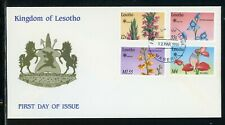 Lesotho Scott #756//763 FIRST DAY COVER Orchids Flowers FLORA $$
