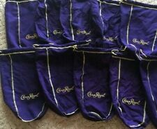 Fabric, 10 purple Crown Royal Bags, $15.00