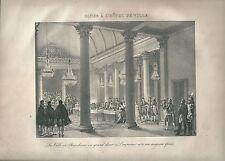 1827 DÎNER À L'HOTEL DE VILLE Madou Napoleone Paris Parigi