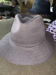 NWT Men's Kangol Baron Trilby Hat Fedora Charcoal Sz L
