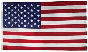 VALLEY FORGE US5PN SEWN NYLON USA MADE 5' X 8' UNITED STATES USA FLAG 8239394
