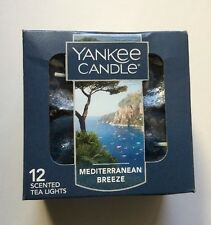 YANKEE CANDLE MEDITERRANEAN BREEZE BOX OF 12 TEA LIGHTS HTF SCENT