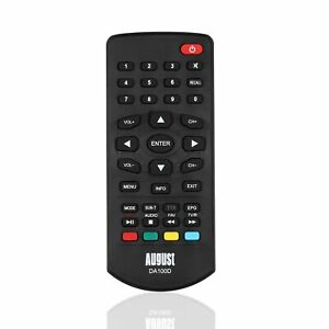 Remote Control for August DA100D Portable Freeview Television - August RM100D
